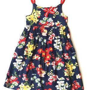 Janie and Jack Girls Ciao Bella Dress Navy Floral